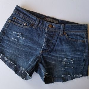 Joe's Eclipse Distressed Button Fly Cut-Off Shorts